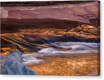 Abstract Oak Creek Canyon Canvas Print