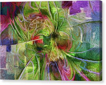 Canvas Print featuring the digital art Abstract Of Color by Deborah Benoit