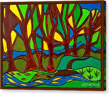Abstract Of The Otter Pool Canvas Print