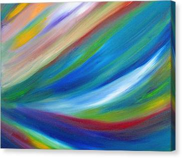 Canvas Print featuring the painting Abstract Oil Painting by Beth Akerman