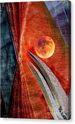 Abstract On Moon Canvas Print