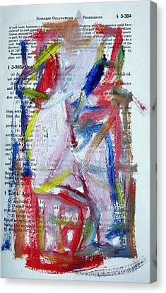 Abstract On Paper No. 35 Canvas Print by Michael Henderson