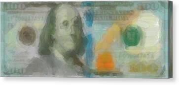 Abstract One Hundred Us Dollar Bill  Canvas Print