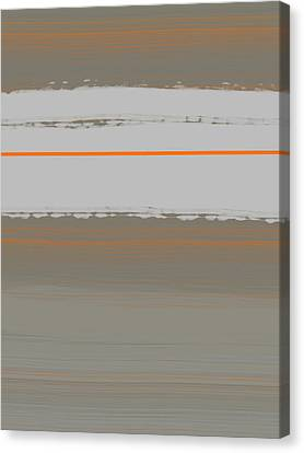 Abstract Forms Canvas Print - Abstract Orange 4 by Naxart Studio
