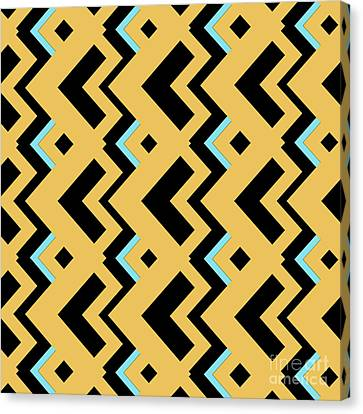 Abstract Orange, Dark Gray And Cyan Pattern For Home Decoration Canvas Print by Pablo Franchi
