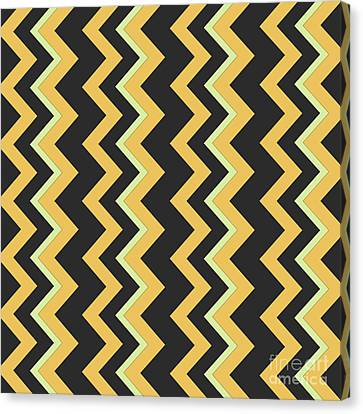Abstract Orange, Dark Gray And Green Pattern For Home Decoration Canvas Print by Pablo Franchi