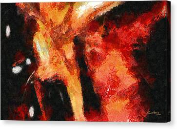 Abstract Orange Red Canvas Print by Russ Harris