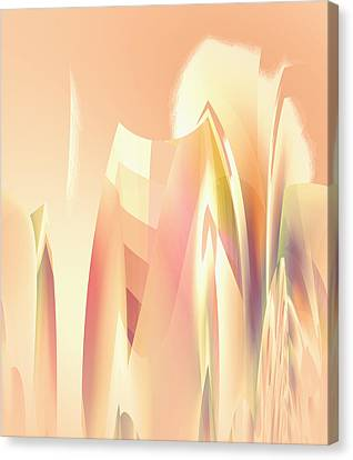 Canvas Print featuring the digital art Abstract Orange Yellow by Robert G Kernodle