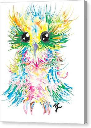 Wildlife Celebration Canvas Print - Abstract Owl by Darren Cannell