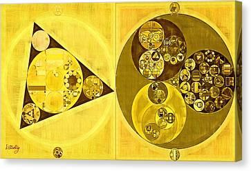 Abstract Painting - Banana Yellow Canvas Print by Vitaliy Gladkiy