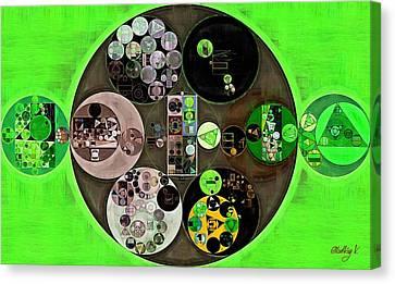 Abstract Painting - Bright Green Canvas Print by Vitaliy Gladkiy