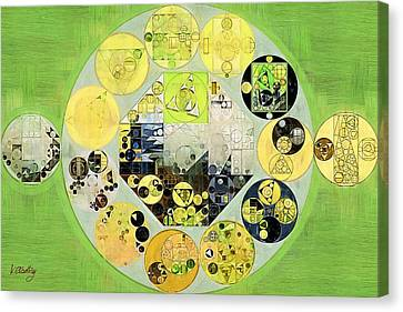 Abstract Painting - Chelsea Cucumber Canvas Print