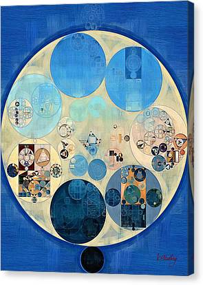 Abstract Painting - Curious Blue Canvas Print by Vitaliy Gladkiy