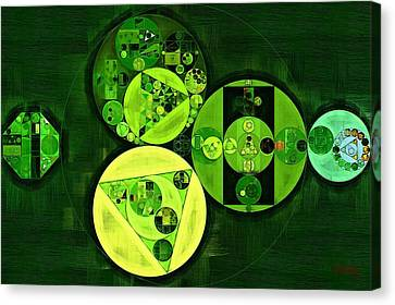 Abstract Painting - Dark Green Canvas Print by Vitaliy Gladkiy