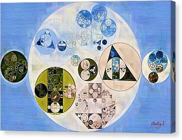 Fashion Abstraction Canvas Print - Abstract Painting - Dark Pastel Blue by Vitaliy Gladkiy