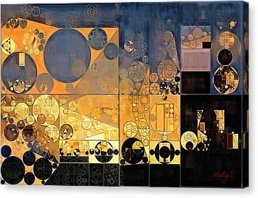 Indian Yellow Canvas Print - Abstract Painting - Davy Grey by Vitaliy Gladkiy