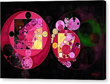 Abstract Painting - Deep Carmine Canvas Print by Vitaliy Gladkiy