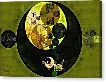 Abstract Painting - Fiji Green Canvas Print by Vitaliy Gladkiy