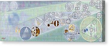 Abstract Painting - Geyser Canvas Print by Vitaliy Gladkiy