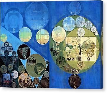 Abstract Painting - Green Mist Canvas Print by Vitaliy Gladkiy