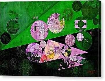 Abstract Painting - India Green Canvas Print by Vitaliy Gladkiy