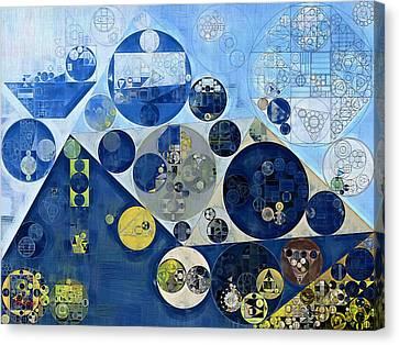 Abstract Painting - Kashmir Blue Canvas Print by Vitaliy Gladkiy