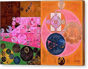 Abstract Painting - Light Thulian Pink Canvas Print by Vitaliy Gladkiy