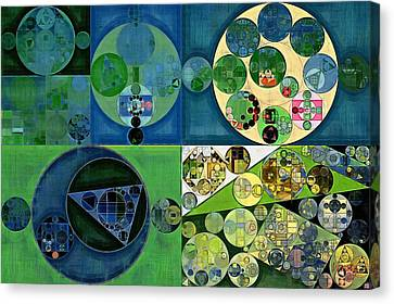 Abstract Painting - Medium Jungle Green Canvas Print by Vitaliy Gladkiy