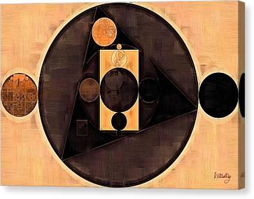 Abstract Painting - Morocco Brown Canvas Print by Vitaliy Gladkiy