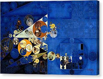 Abstract Painting - Oxford Blue Canvas Print