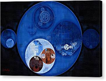 Geometric Style Canvas Print - Abstract Painting - Pale Cerulean by Vitaliy Gladkiy