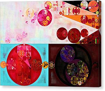 Ice Figures Canvas Print - Abstract Painting - Persian Plum by Vitaliy Gladkiy