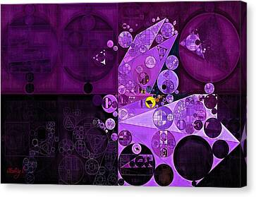 Abstract Painting - Rich Lilac Canvas Print by Vitaliy Gladkiy
