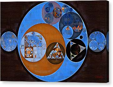 Abstract Painting - Rock Blue Canvas Print