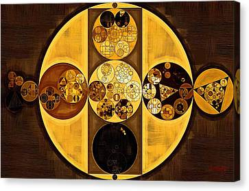 Abstract Painting - Sepia Canvas Print by Vitaliy Gladkiy