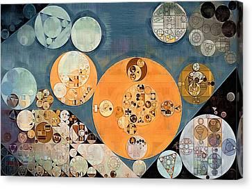Abstract Painting - Shuttle Grey Canvas Print by Vitaliy Gladkiy