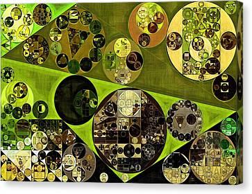 Abstract Painting - Trendy Green Canvas Print by Vitaliy Gladkiy