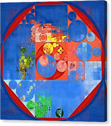 Abstract Painting - United Nations Blue Canvas Print by Vitaliy Gladkiy