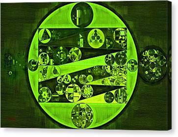 Abstract Painting - Verdun Green Canvas Print by Vitaliy Gladkiy