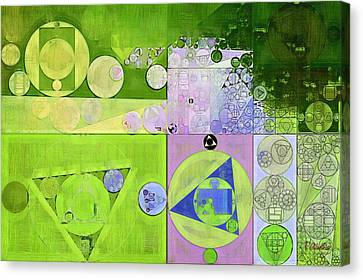 Abstract Painting - Yellow Green Canvas Print by Vitaliy Gladkiy