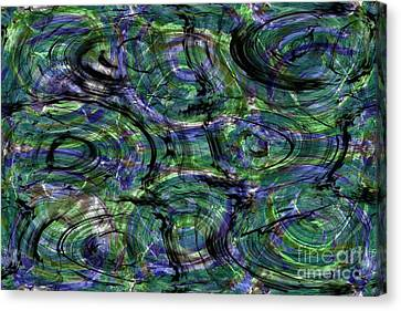 Abstract Pattern 5 Canvas Print by Jean Bernard Roussilhe