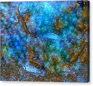 Canvas Print featuring the painting Abstract-pearls Of The Sea by Sherri  Of Palm Springs
