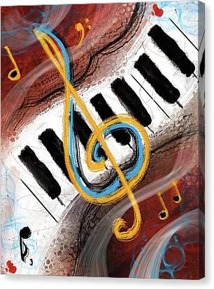 Abstract Piano Concert Canvas Print