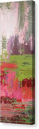 Abstract Pink And Green Canvas Print
