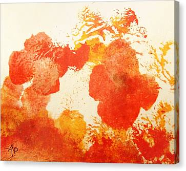 Abstract Poppies Canvas Print by Angeles M Pomata