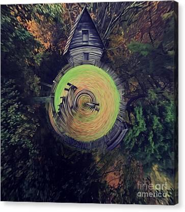 Abstract Puckett Cabin Canvas Print