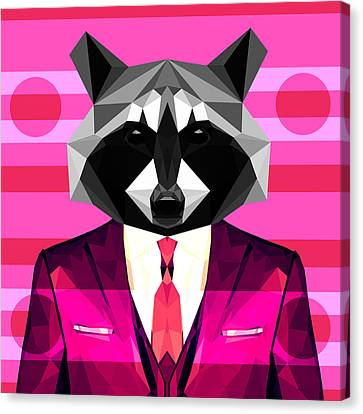 Abstract Raccoon Canvas Print by Gallini Design