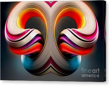 Abstract Rams Head Canvas Print
