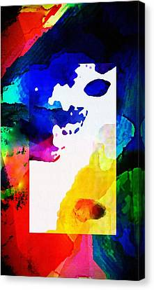 Rectangle Merge Abstract By Delynn Sold Canvas Print by Delynn Addams