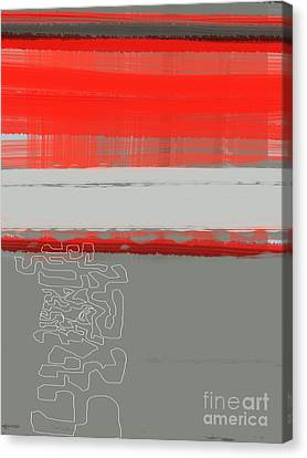 Abstract Forms Canvas Print - Abstract Red 1 by Naxart Studio